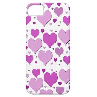 Porciones de corazones funda para iPhone 5 barely there