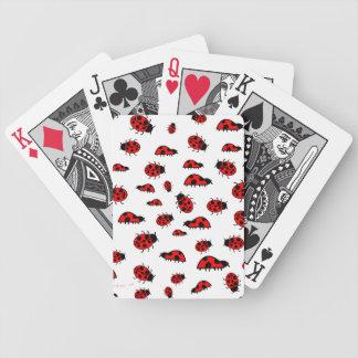 Porciones de cubierta linda de las mariquitas de n baraja cartas de poker