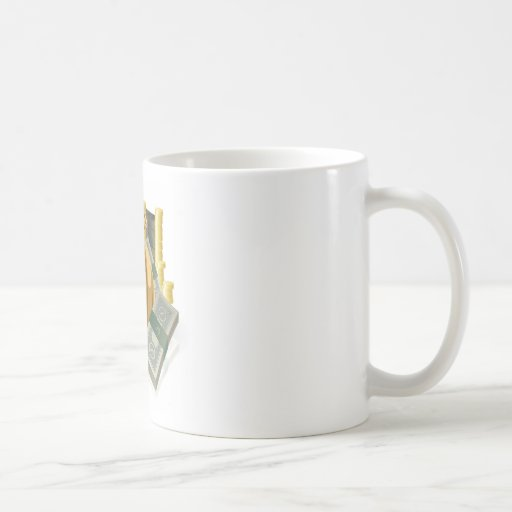 Porciones de dinero taza de café