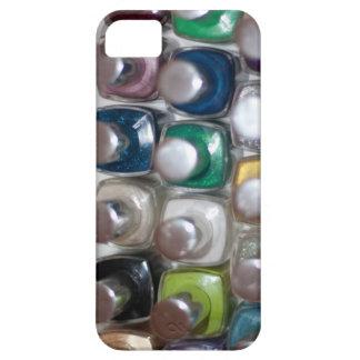 Porciones de esmalte de uñas iPhone 5 fundas