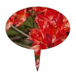 Porciones de flores rojas figura de tarta