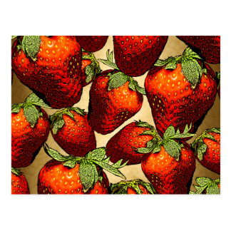 Porciones de fresas postal