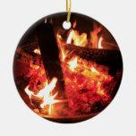 Porciones de fuego y de carbones ornamento para reyes magos