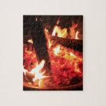 Porciones de fuego y de carbones puzzles