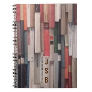Porciones de libros más iniciales de encargo spiral notebook