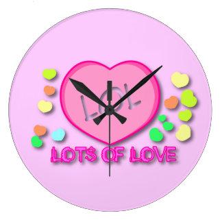Porciones de LOL de reloj del amor