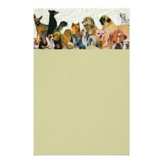 Porciones de papel con membrete del collage de los papelería