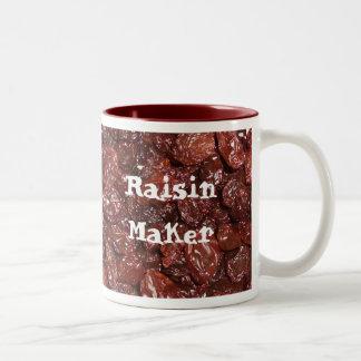 Porciones de pasas tazas de café