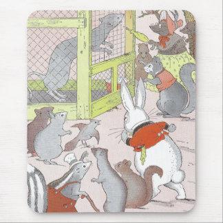 Porciones de pequeños animales alfombrilla de ratón