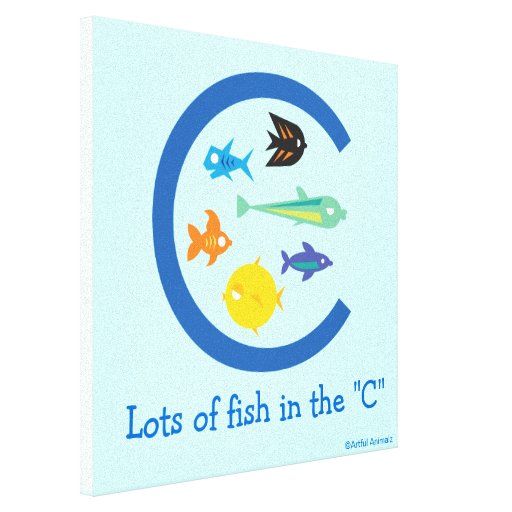 """Porciones de pescados en la """"C """" Lona Envuelta Para Galerias"""