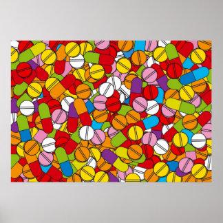 Porciones de píldoras poster