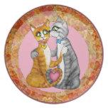 Porciones de placa del el día de San Valentín de l Platos Para Fiestas