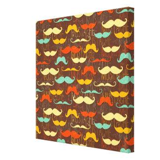 Porciones de pulgadas del fondo de los bigotes [24 lona envuelta para galerias