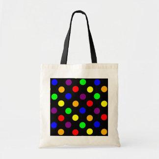 Porciones de puntos coloridos bolsa tela barata