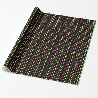 Porciones de puntos coloridos papel de regalo