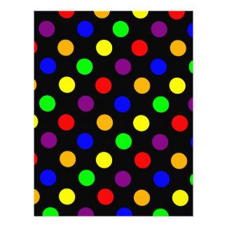 Porciones de puntos coloridos plantillas de membrete