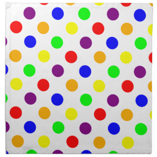 Porciones de puntos coloridos servilletas de papel