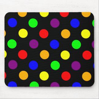 Porciones de puntos coloridos tapete de ratón