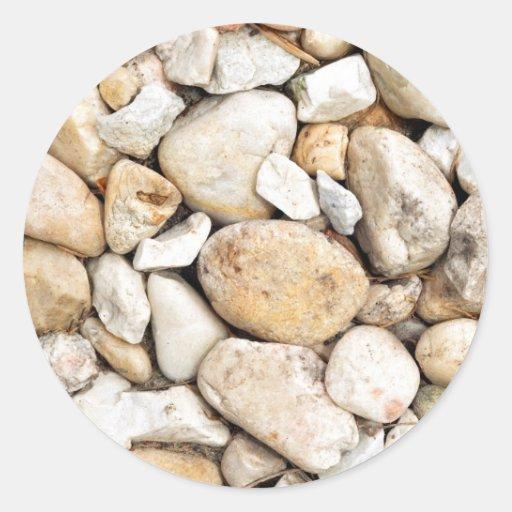 Porciones de rocas pegatina redonda
