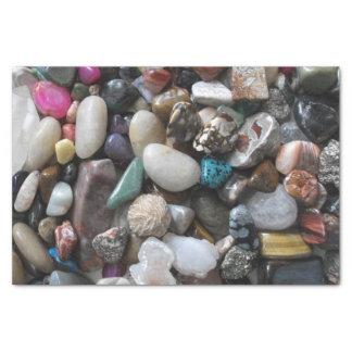 Porciones de rocas pulidas coloridas papel de seda pequeño