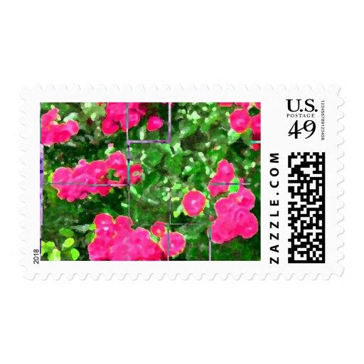 Porciones de rosas sellos