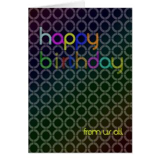 Porciones de tarjeta de cumpleaños de los círculos