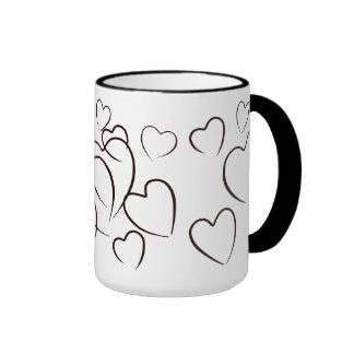 Porciones de taza de café del amor taza a dos colores