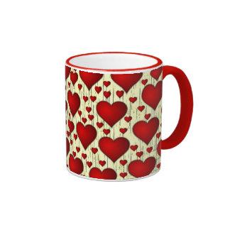 Porciones de taza de los corazones