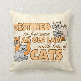 Porciones divertidas de diseño de los gatos cojín