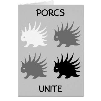 PORCS UNITE CARD