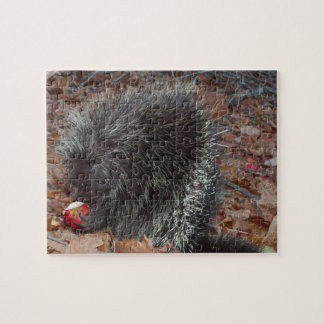 Porcupine and Apple Jigsaw Puzzle