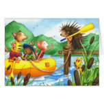 Porcupine at Summer Camp Greeting Card