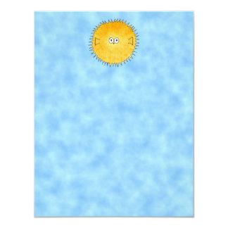 Porcupine Fish. 4.25x5.5 Paper Invitation Card