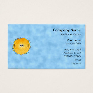 Porcupine Fish. Business Card