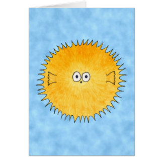 Porcupine Fish. Card