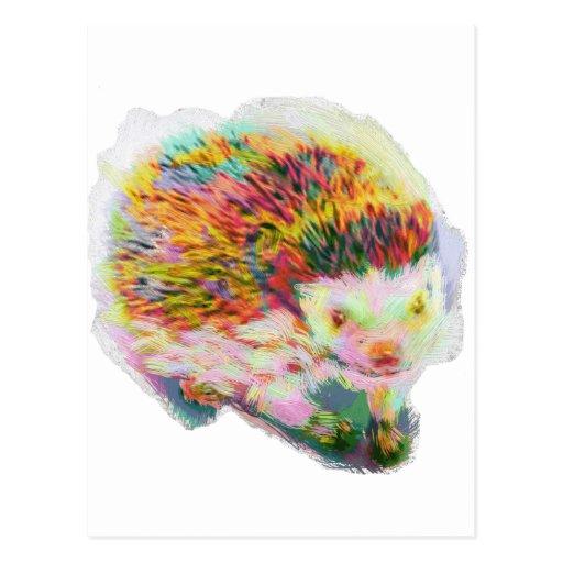 Porcupine hedgehog: handdrawn by [ZIPANGU49ER] Postcard