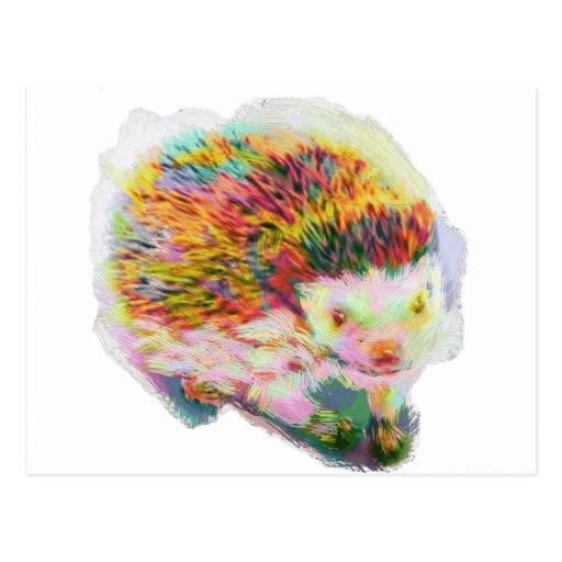 Porcupine hedgehog: handdrawn by [ZIPANGU49ER] Post Cards