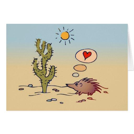 Porcupine Love card