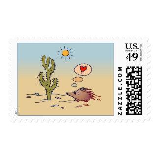 Porcupine Love Postage Stamp