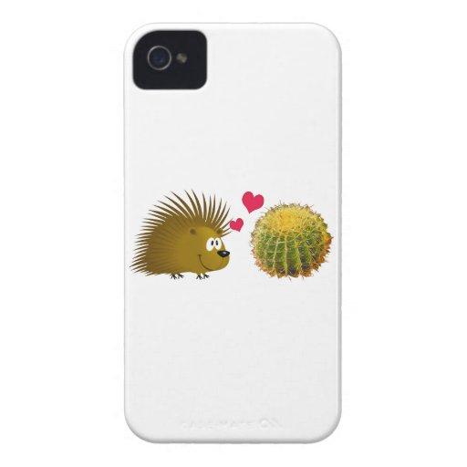 Porcupine Loves Cactus Case-Mate iPhone 4 Cases