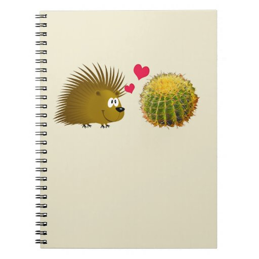Porcupine Loves Cactus Spiral Note Book