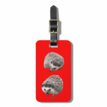 Porcupine Luggage Tag