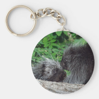 Porcupine - Mom and Baby Keychain