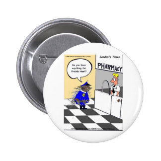 Porcupine Police Funny Gifts Tees & Collectibles Pinback Buttons