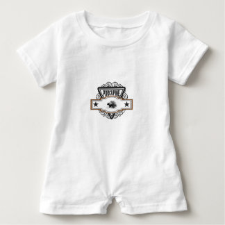 Porcupine power dude baby romper