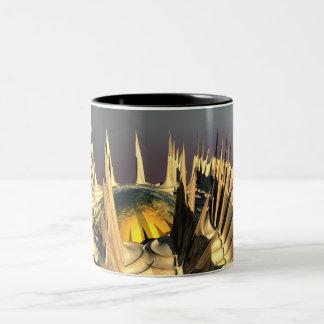 Porcupine Quills Two-Tone Coffee Mug