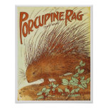 Porcupine Rag Poster
