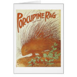 Porcupine Rag Vintage Songbook Cover Greeting Card
