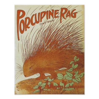 Porcupine Rag Vintage Songbook Cover Poster