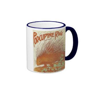 Porcupine Rag Vintage Songbook Cover Ringer Mug